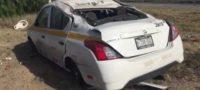 Al lugar llegaron elementos de Policía Federal de Caminos y Bomberos.