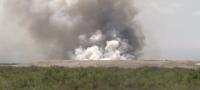 El relleno sanitario de Monclova - Frontera nuevamente se incendió.