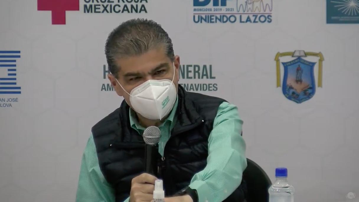 Gobernador de Coahuila, Miguel Ángel Riquelme Solís.