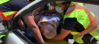 Aparatoso accidente en Saltillo