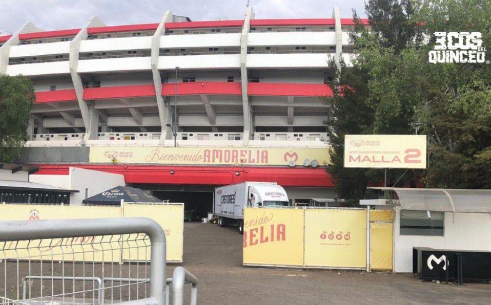 La mudanza de Morelia ha iniciado con la salida del inmobiliario del Estadio Morelos