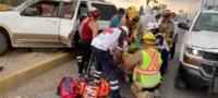 Al menos tres lesionados fue el saldo de un fuerte choque