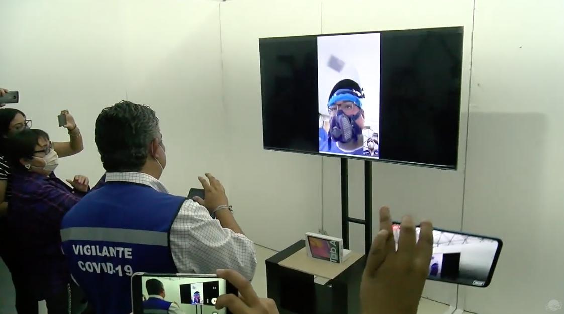 Adecuan área de visitas virtuales en hospital móvil 2 de Monclova.