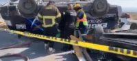 Accidente con persona sin vida y otros más prensados