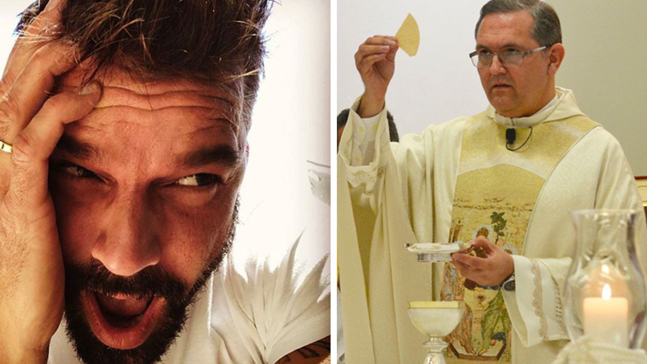 Sacerdote entra en polémica contra Ricky Martin por hablar de La Virgen.