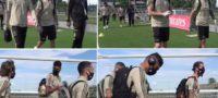 Los futbolistas caminaron 300 metros desde su residencia