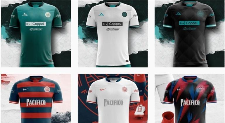propuestas de uniformes para Mazatlán FC
