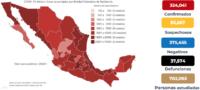México el cuarto país con mayor número contagios.
