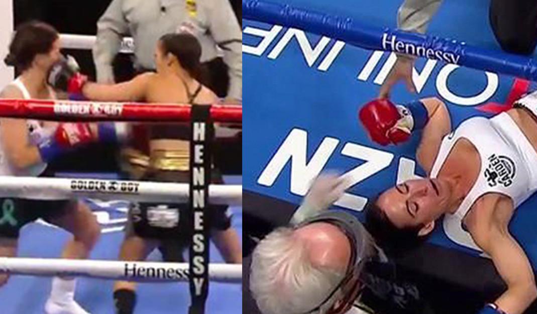 Seniesa Estrada noquea a su rival en tan sólo 7 segundos en el boxeo femenil