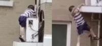 Niño cae de un quinto piso de departamentos