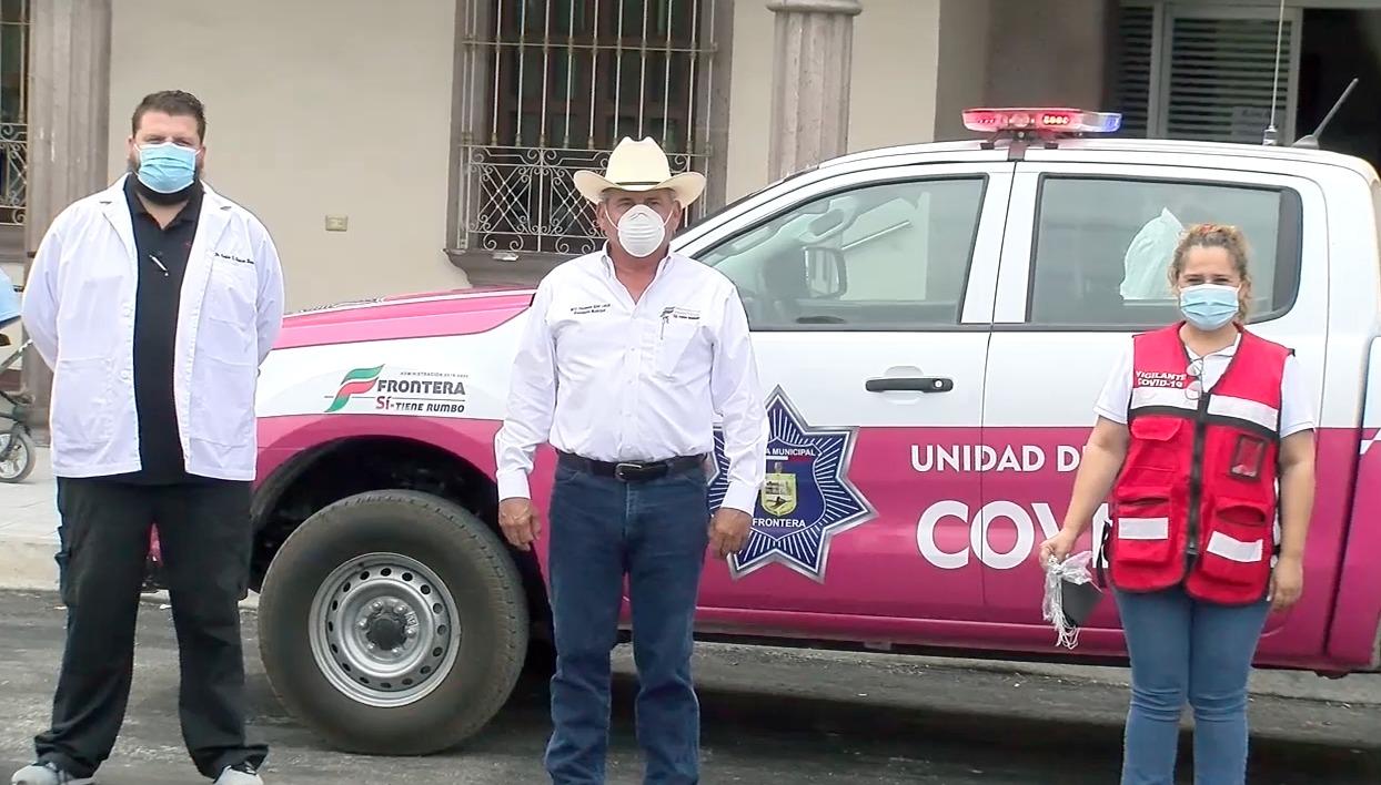 Entregan cubrebocas a ciudadanos de Frontera