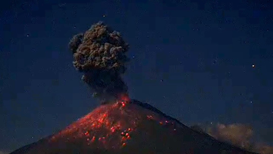 Registra volcán Popocatépetl intensa actividad