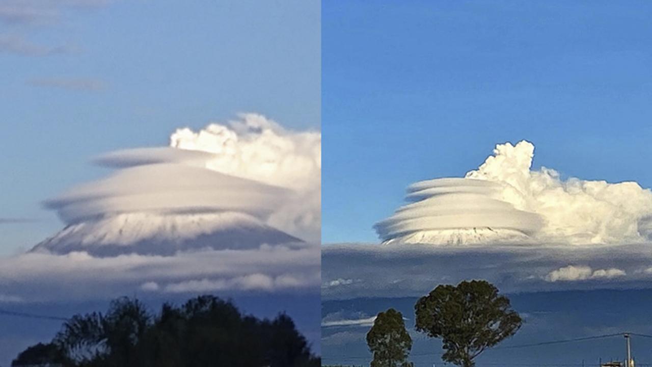 Raras nubes y ruido de turbina en el Popocatépetl