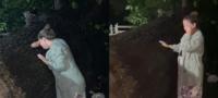 """""""Mi árbol se fue"""", mujer llora desconsolada la caída de nogal de 100 años en la tormenta Hanna en Nuevo León."""