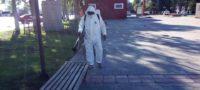 Continúa Municipio de Saltillo sanitizando los espacios públicos de la ciudad