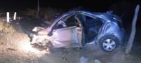 Mueren dos jóvenes en aparatoso choque en Sabinas; uno más está herido de gravedad