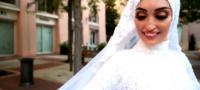 ¡Imágenes de impacto! Novia libanesa se salva de morir en explosión de Beirut.