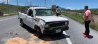 Dos abuelitos se volcaron en Saltillo; se encuentran hospitalizados