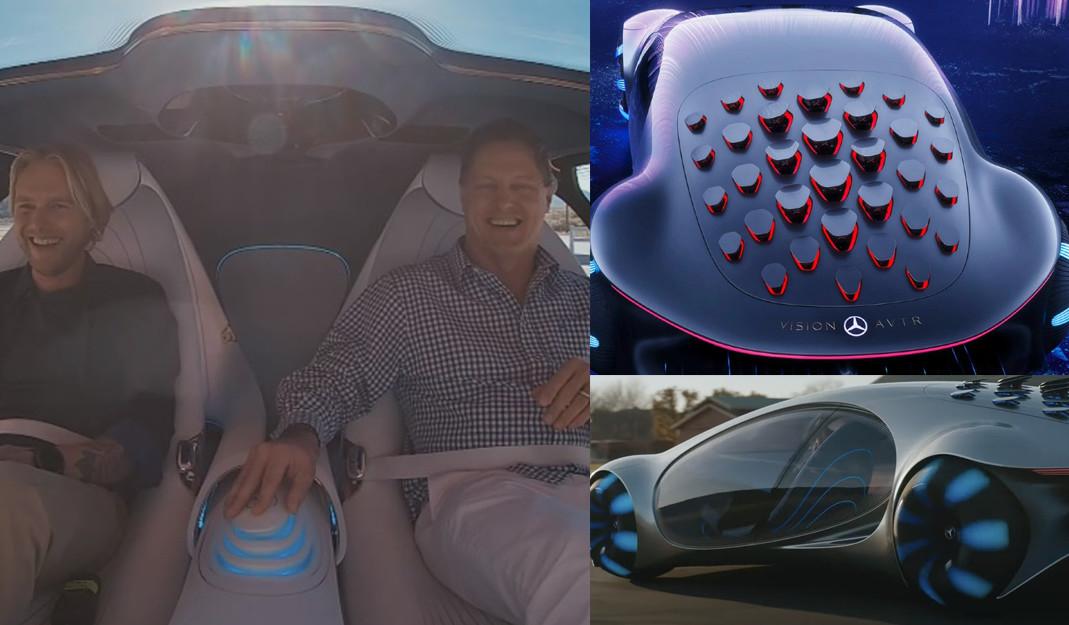 Vision AVTR: presume Mercedes-Benz su primer auto sin volante inspirado en Avatar