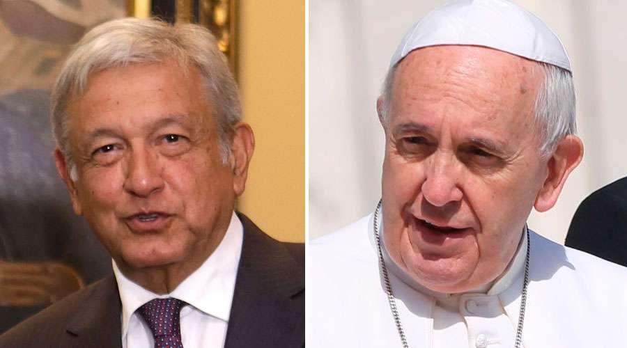 Espera AMLO una disculpa del Papa Francisco y el gobierno de España por conquista a México