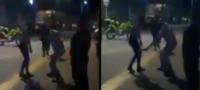 Con cinto en mano, padre advierte a manifestante 'te pueden regresar a casa en un ataúd'