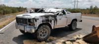 Impactante volcadura en carretera Acuña-Zaragoza: un joven de 19 años fue hospitalizado