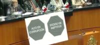 """PAN recibe a Secretario de Salud con etiquetado """"Alto en corrupción"""" en el Senado"""