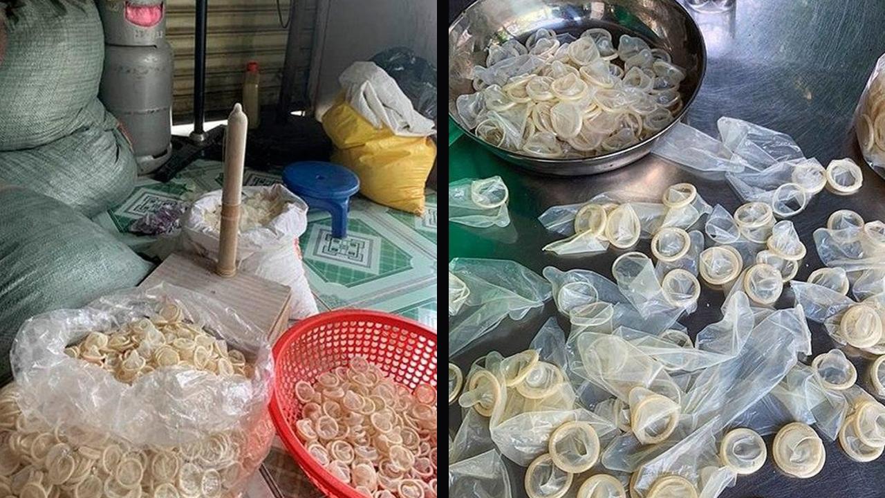 Confiscan en Vietnam más de 320 mil condones usados destinados a la reventa