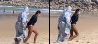 Arrestan a surfista; rompió la cuarentena y salió a montar las olas aún después de contraer COVID-19