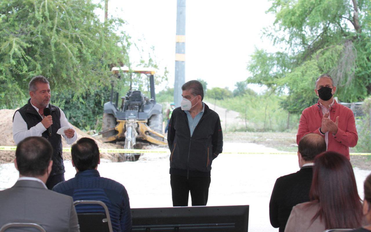 Supervisa Miguel Riquelme colector de aguas residuales en allende