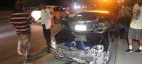 Carambola entre cuatro vehículos en Puente de AHMSA en Monclova dejas tres lesionados.