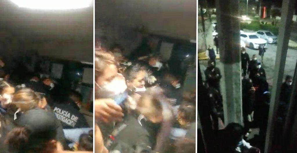 Violentamente y de madrugada: policías desalojaron a feministas que tomaron la CODHEM