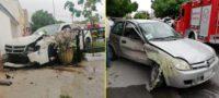 Abuelito manda al hospital a dos jóvenes: Chocó su vehículo con el de ellos en Torreón
