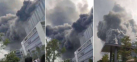 Se incendia edifico de Huawei en China