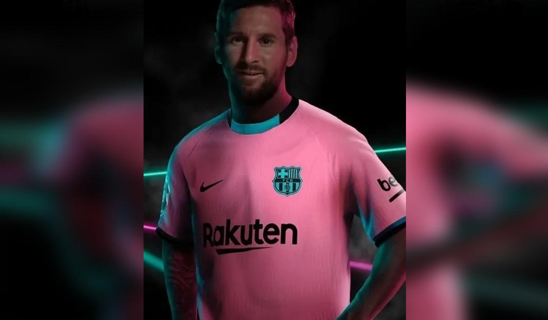 Barça presume su tercer jersey con Messi como protagonista