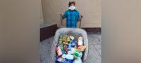 Una carretilla y ganas de ayudar: niño de 12 años recolectó alimentos para familias necesitadas en Palaú
