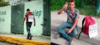 Mentalidad positiva: un hombre salió a pedir empleo en Piedras Negras de forma especial