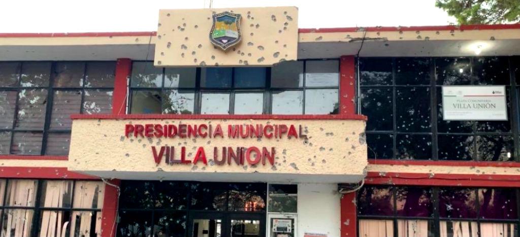 Filtran vídeo de balacera contra presidencia de Villa Unión: ataque fue hace 10 meses