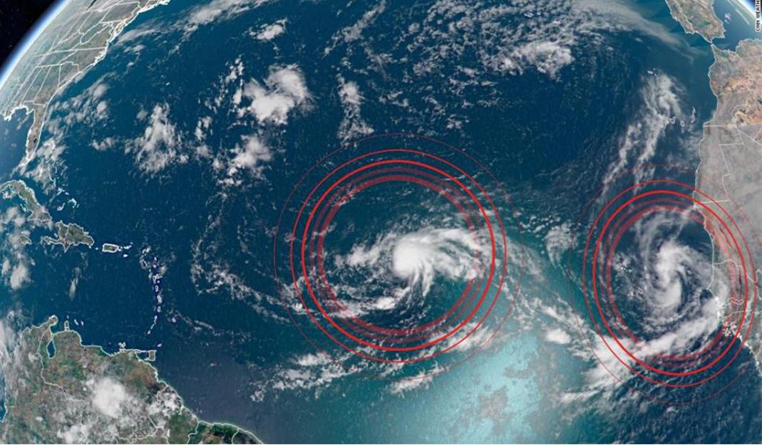 Se crean en el Atlántico las tormentas 'Paulette' y 'René'; amenazan fortalecimiento en su trayectoria