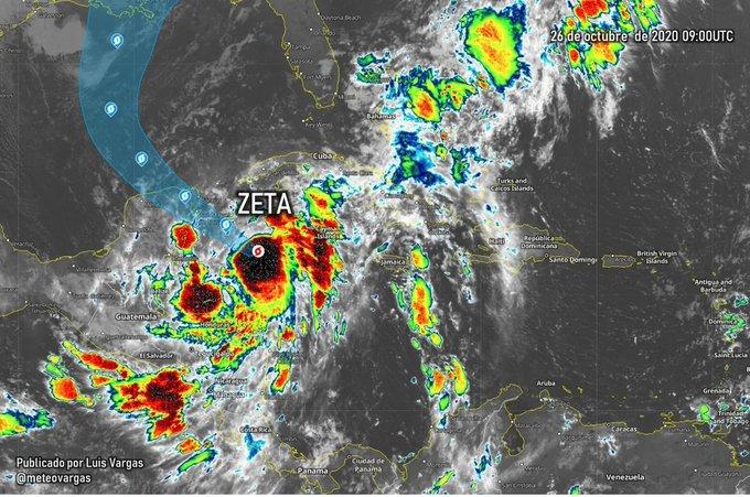 Quintana Roo y Yucatán en alerta amarilla ante la llegada de la tormenta tropical Zeta