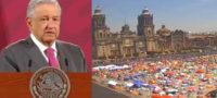 """Exigimos a FRENAAA no adueñarse del Zócalo de CDMX, """"den cuando menos un día a otros manifestantes"""": AMLO"""
