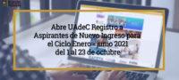 Apertura UAdeC el Registro a Aspirantes