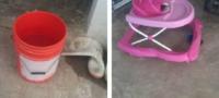 Muere bebé por descuido de su madre: se ahogó en una cubeta de 20 litros