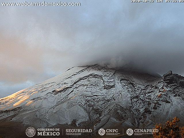 Reportan caída de ceniza en EdoMex y Puebla, tras intensa actividad