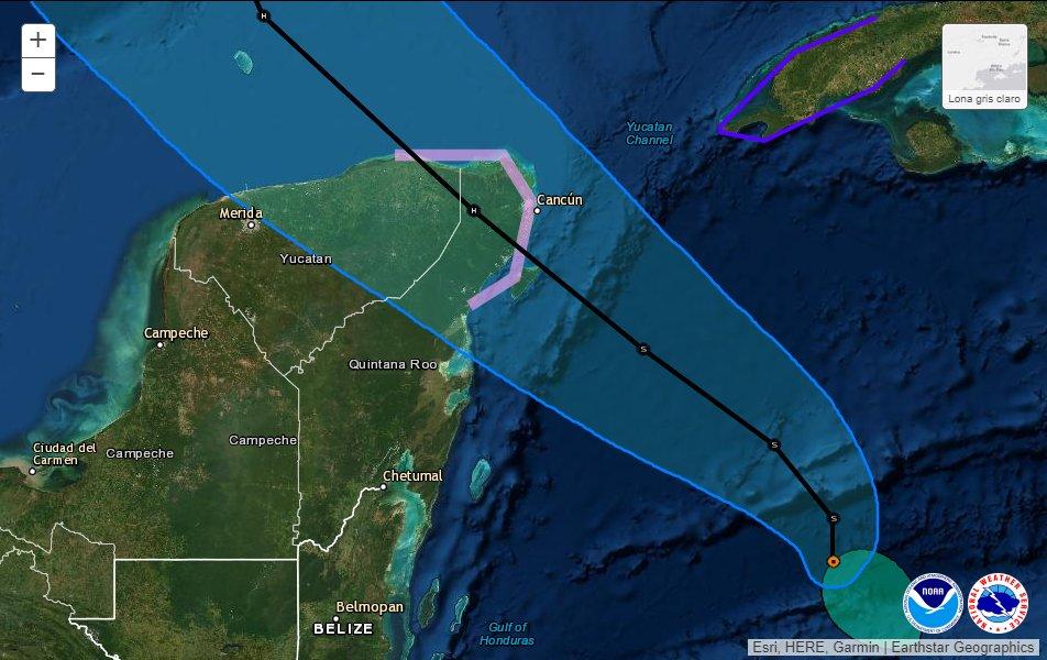 """Isla Cozumel, el primer punto que sintió el impacto de """"Zeta"""""""