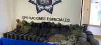 Decomisan arsenal y camiones blindados en Tamaulipas