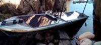 Encuentra un extraño bote robótico no tripulado