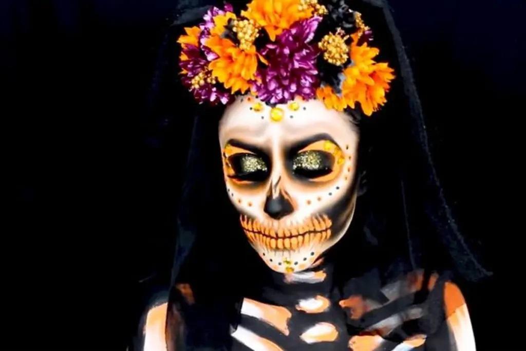Aun No Tienes Disfraz De Halloween Te Ensenamos Tutorial Sencillo De Maquillaje De Catrin O Catrina Nrt Mexico