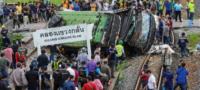 Mueren 18 y 40 resultan heridos en aparatoso choque de tren en Tailandia
