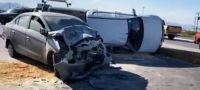 Derrapa en derrame de aceite y provoca accidente sobre la carretera 57